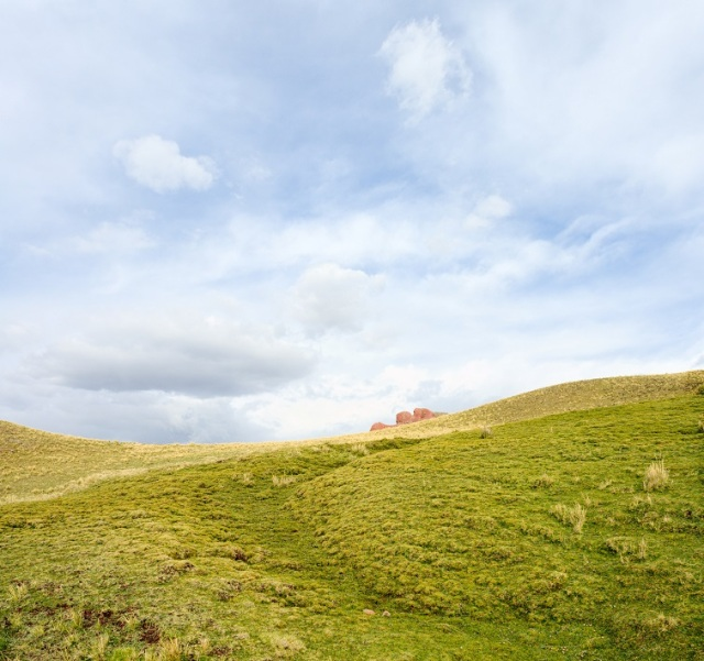 cloud landing in solitary meadows