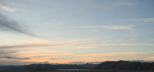 chacas lagoon at dusk